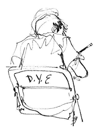 Boy Writing at DYE