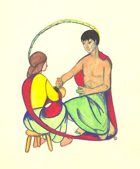 Painted at 13: Seal Man with Girl