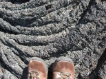 Boots Malpais pahoehoe